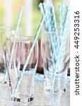 clean empty drinking glasses... | Shutterstock . vector #449253316