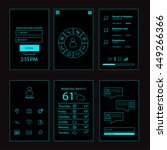user interface mobile design... | Shutterstock .eps vector #449266366