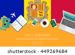 visit andorra concept for your... | Shutterstock .eps vector #449269684