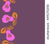 seamless  vertical pattern of...   Shutterstock . vector #449270350