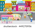 on the street | Shutterstock .eps vector #449270956