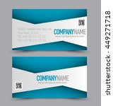 business card set template for... | Shutterstock .eps vector #449271718