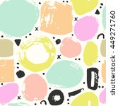 trendy vector seamless pattern... | Shutterstock .eps vector #449271760