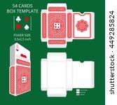 poker card size tuck box... | Shutterstock .eps vector #449285824