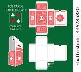 poker card size tuck box... | Shutterstock .eps vector #449285830