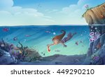 Child Diving Into The Sea