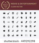 media icon entertainment icon... | Shutterstock .eps vector #449292298