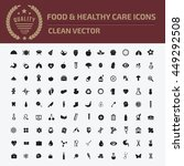 food and healthy icon set vector | Shutterstock .eps vector #449292508