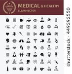 medical icon healthy care icon... | Shutterstock .eps vector #449292550