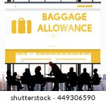 Small photo of Baggage Luggage Allowance Passenger Plane Concept