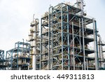 refineries at the blue sky... | Shutterstock . vector #449311813