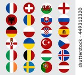 flags of europe. vector... | Shutterstock .eps vector #449312320
