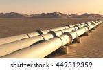 pipelines in the desert   3d... | Shutterstock . vector #449312359