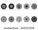 set of ten vector spirograph...
