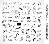hand drawn arrows  vector set | Shutterstock .eps vector #449335840