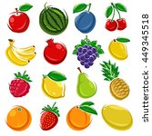 collection of fruits set.... | Shutterstock .eps vector #449345518