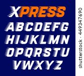 express style alphabet with... | Shutterstock .eps vector #449347690