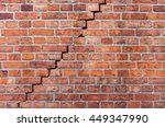 old  weathered  broken  red... | Shutterstock . vector #449347990