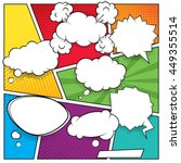 comic speech bubbles and... | Shutterstock .eps vector #449355514