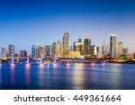 Miami  Florida  Usa Downtown...