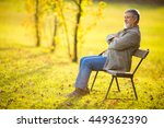 portrait of a senior man... | Shutterstock . vector #449362390