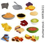 mexican food  prepared   Shutterstock .eps vector #44936311