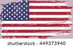 grunge usa flag.american flag... | Shutterstock .eps vector #449373940