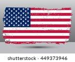 grunge usa flag.american flag... | Shutterstock .eps vector #449373946