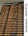 departure screens at santa... | Shutterstock . vector #449375713