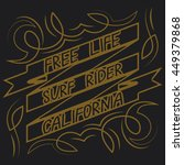 california surf typography  t... | Shutterstock .eps vector #449379868