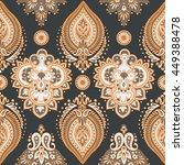 Damask Seamless Pattern With...