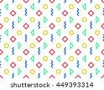 seamless geometric pattern ... | Shutterstock .eps vector #449393314