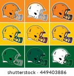 colored football helmets in... | Shutterstock .eps vector #449403886