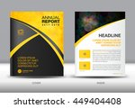 yellow and black annual report... | Shutterstock .eps vector #449404408
