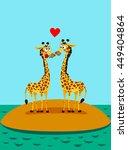 Giraffes In Love. Funny...