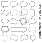 speech bubble icons  | Shutterstock .eps vector #449407468