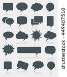 speech bubble icons | Shutterstock .eps vector #449407510