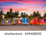 miami beach  florida  usa on... | Shutterstock . vector #449408050