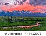 Sunset At Grand Teton   A...
