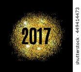 gold glitter happy new year... | Shutterstock .eps vector #449414473