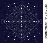 white abstract sacred geometry ... | Shutterstock .eps vector #449417230