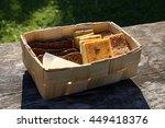 sliced bread and pumpkin cake...   Shutterstock . vector #449418376