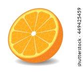 orange half on white background.... | Shutterstock . vector #449425459