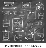 set of hand drawn paper notes... | Shutterstock .eps vector #449427178