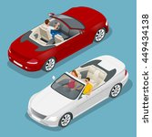 cabriolet car isometric vector... | Shutterstock .eps vector #449434138