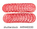 Salami Sausage Slices Isolated...