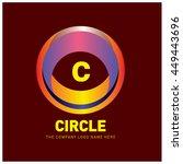 alphabet letter c colorful logo ...   Shutterstock .eps vector #449443696