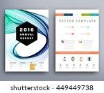 geometric cover background ... | Shutterstock .eps vector #449449738
