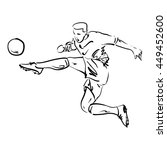 soccer players vector series | Shutterstock .eps vector #449452600