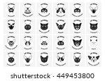 cat breeds  set  vector... | Shutterstock .eps vector #449453800